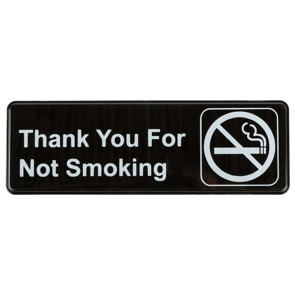 Thank You For Not Smoking Sign Black And White 9 Quot X 3 Quot