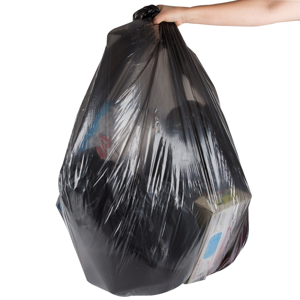 Trash Can Liner Bags : Berry aep b gallon mil quot low density