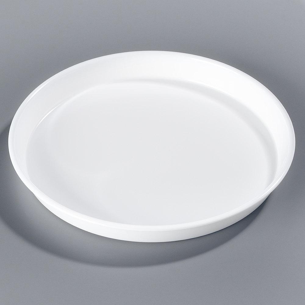Carlisle 130002 13 Quot White Round Melamine Serving Tray 12