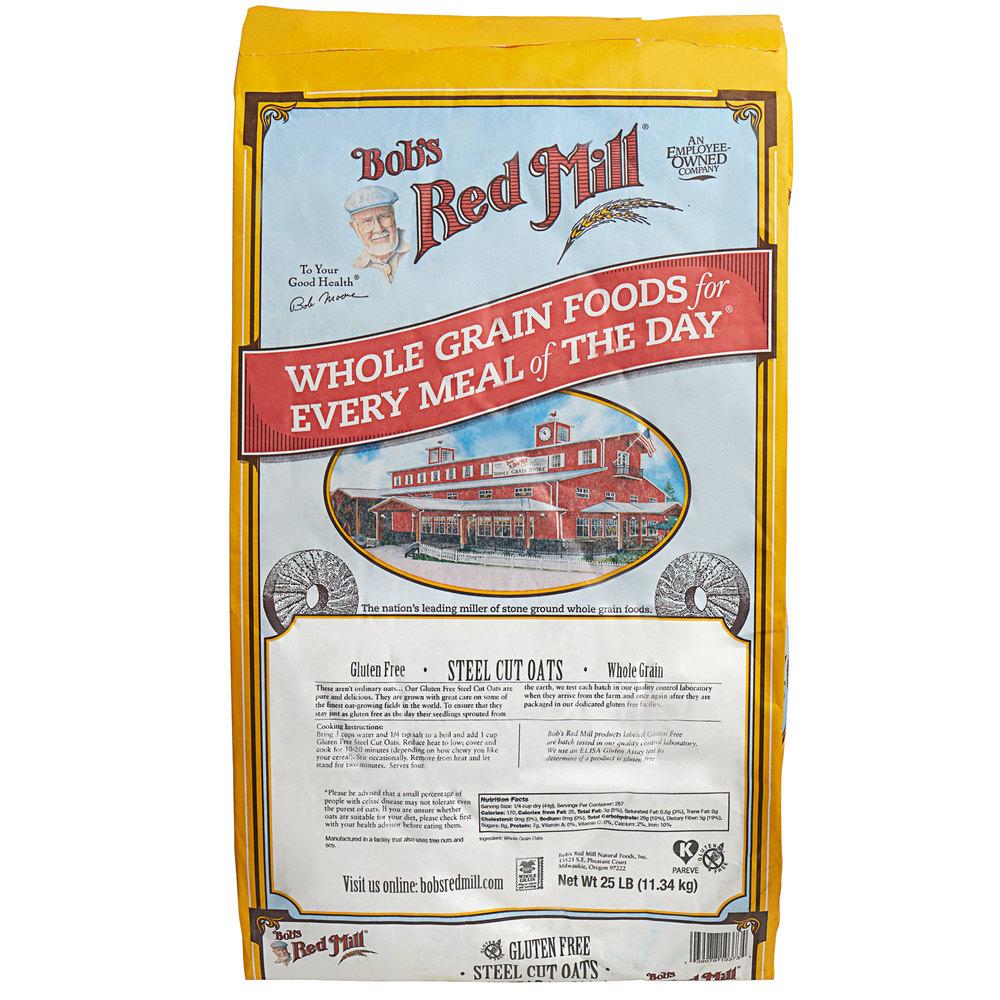 Bob's Red Mill Gluten-Free Steel Cut Oats - 25 lb. Bulk