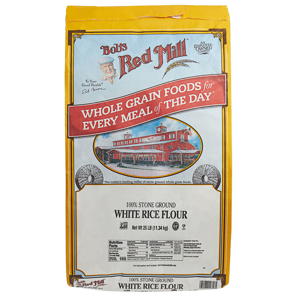 Bob's Red Mill Gluten-Free Flour (White Rice) - Bulk 25 lb.