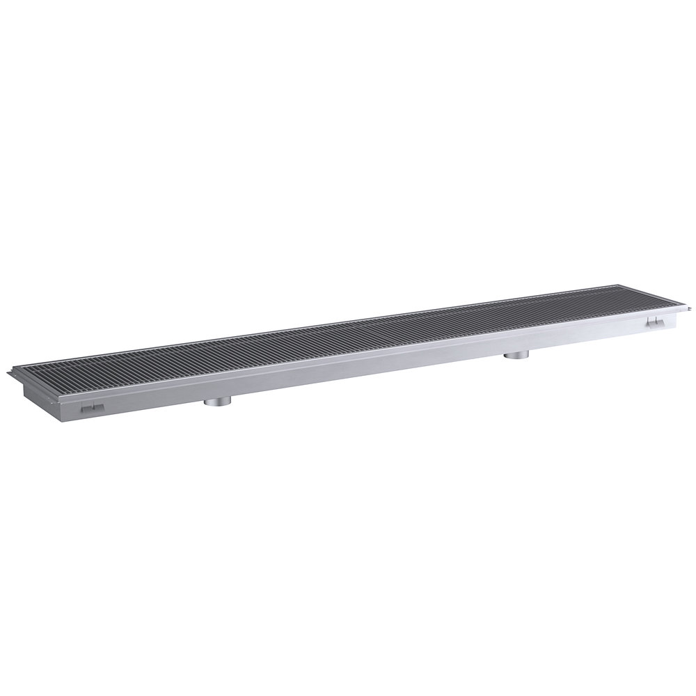 Regency 18 inch x 108 inch 14-Gauge Stainless Steel Floor Trough with Grate