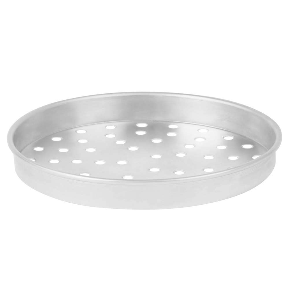 "American Metalcraft PA4012 12"" x 1"" Perforated Standard Weight Aluminum Straight Sided Pizza Pan"