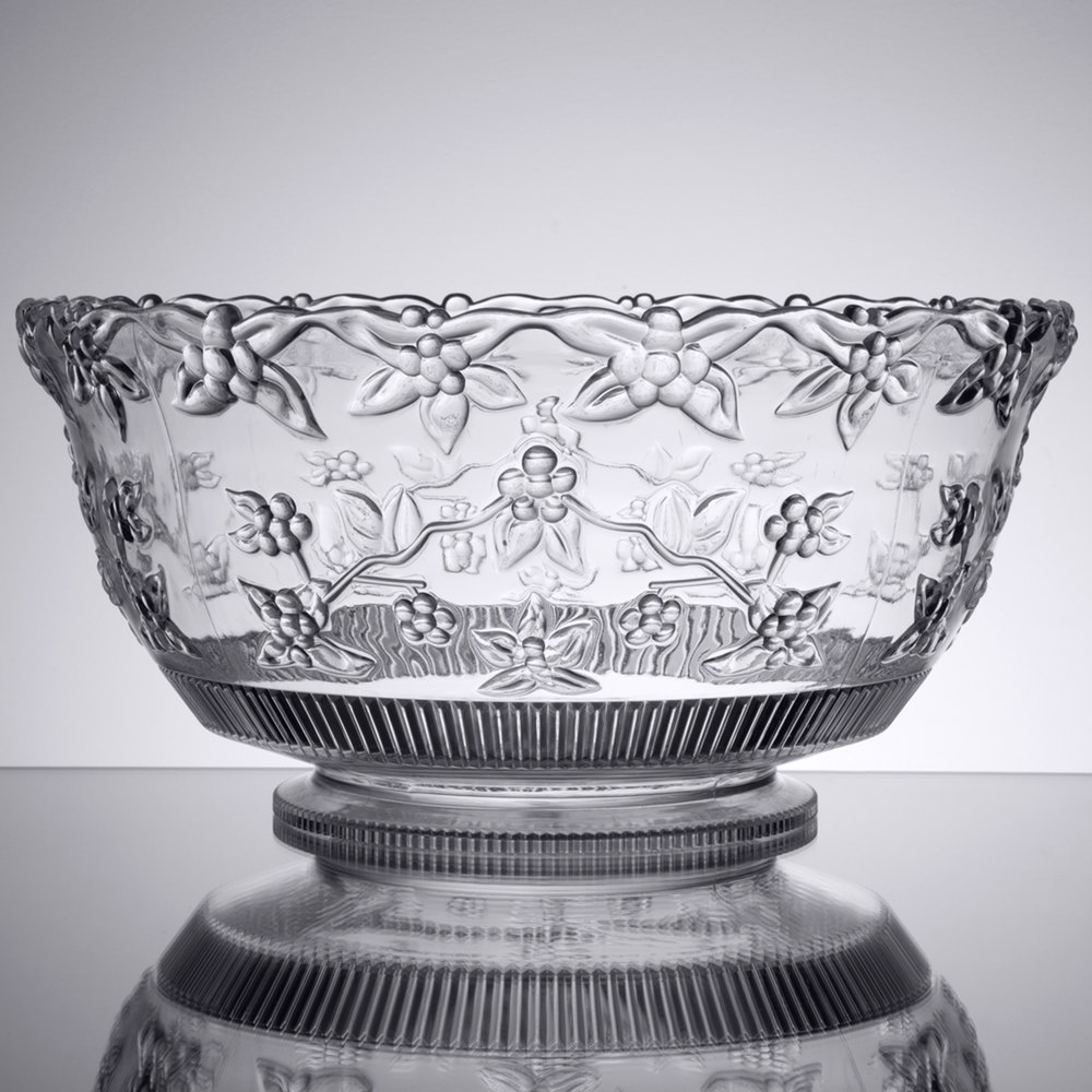 fineline platter pleasers 3512 10 qt clear plastic punch bowl. Black Bedroom Furniture Sets. Home Design Ideas