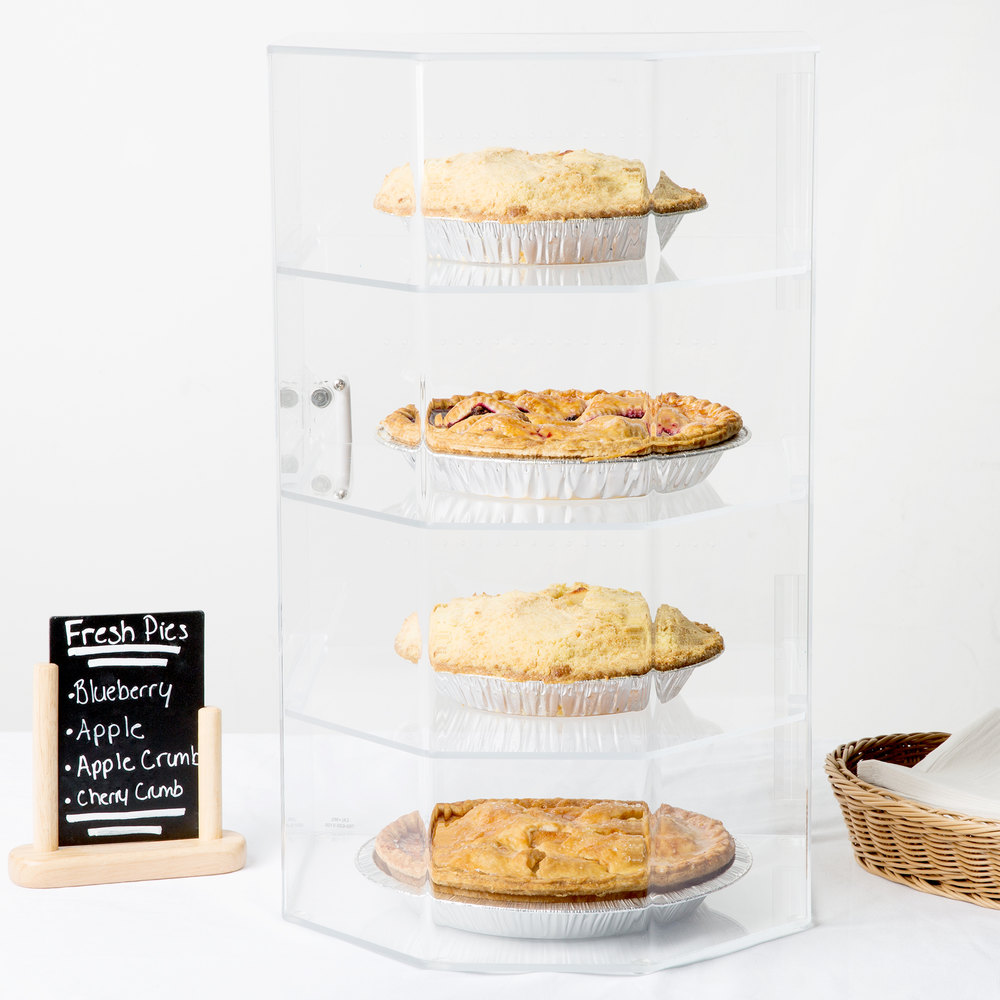 "Cal-Mil 252 Classic Four Tier Acrylic Cake and Pie Display Case - 13"" x 12 1/2"" x 21 1/2"""