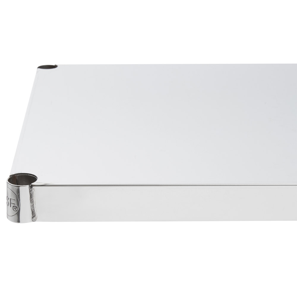 Regency 18 inch x 36 inch NSF 430 Stainless Steel Solid Shelf