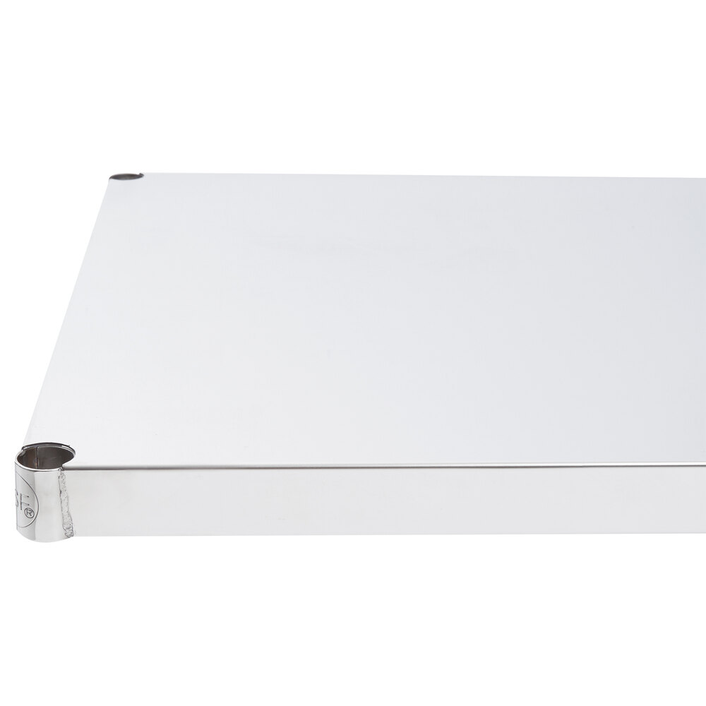 Regency 24 inch x 36 inch NSF 430 Stainless Steel Solid Shelf