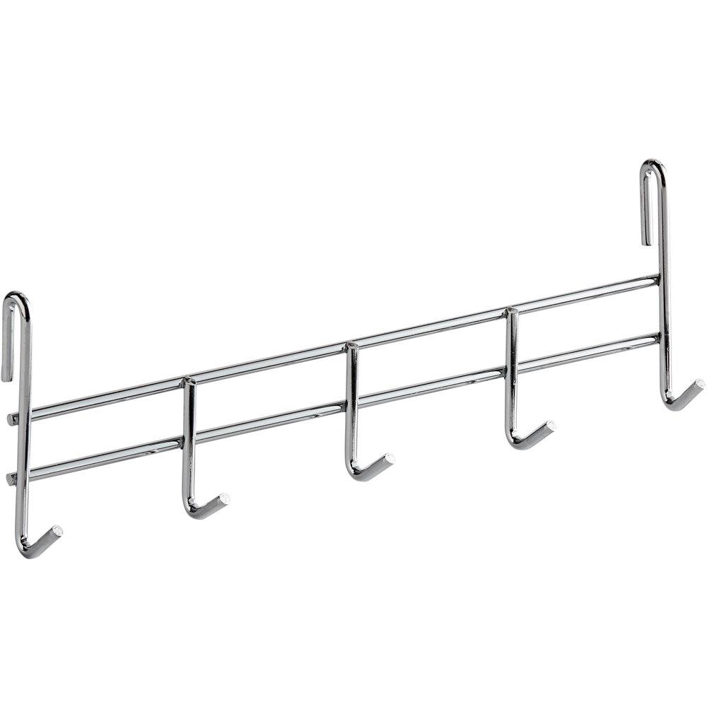 Regency Coat Hook for Chrome Wire Shelves - 5 Hooks