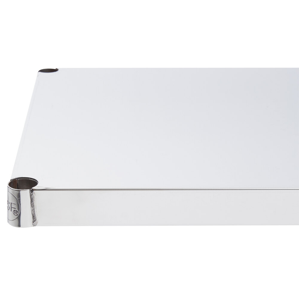 Regency 18 inch x 60 inch NSF 430 Stainless Steel Solid Shelf