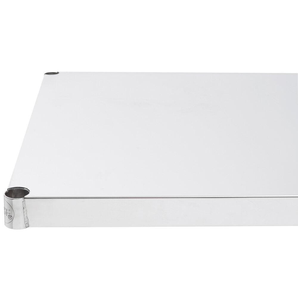 Regency 24 inch x 24 inch NSF 430 Stainless Steel Solid Shelf