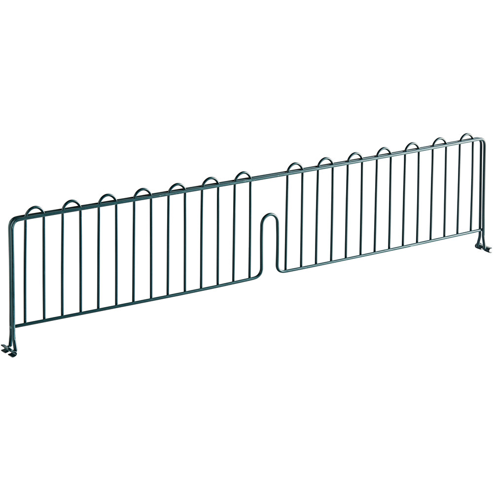 Regency 36 inch Green Epoxy Wire Shelf Divider for Wire Shelving - 36 inch x 8 inch