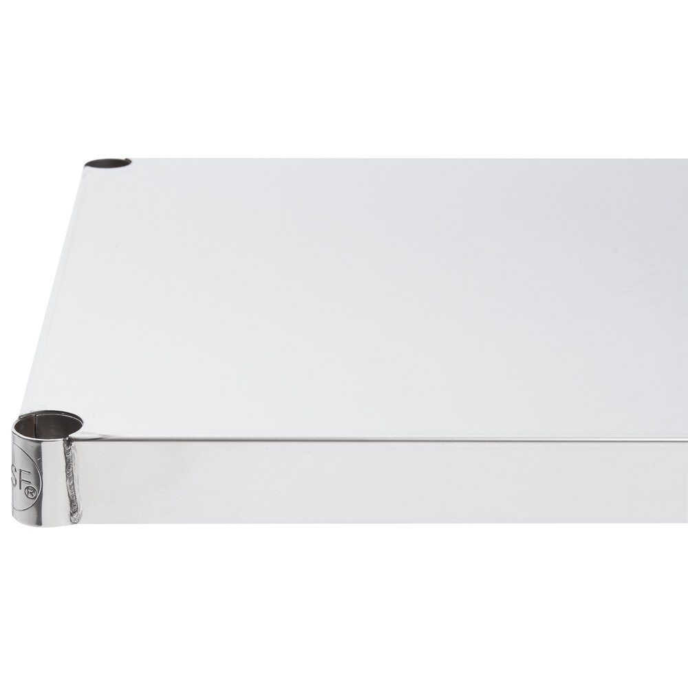 Regency 18 inch x 24 inch NSF 430 Stainless Steel Solid Shelf