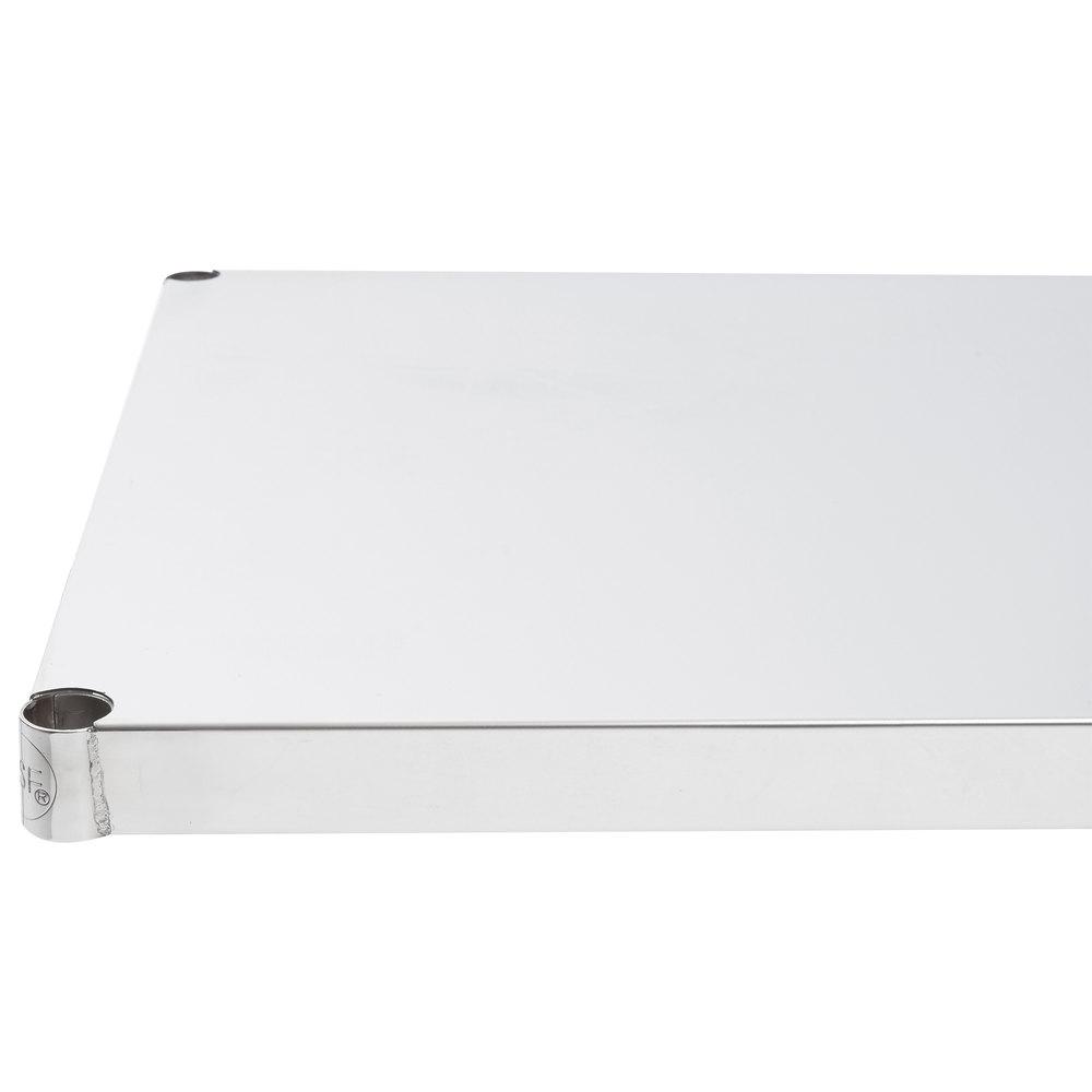 Regency 24 inch x 48 inch NSF 430 Stainless Steel Solid Shelf