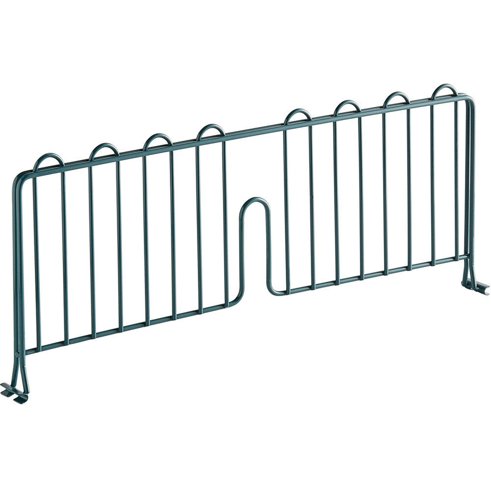 Regency 21 inch Green Epoxy Wire Shelf Divider for Wire Shelving - 21 inch x 8 inch