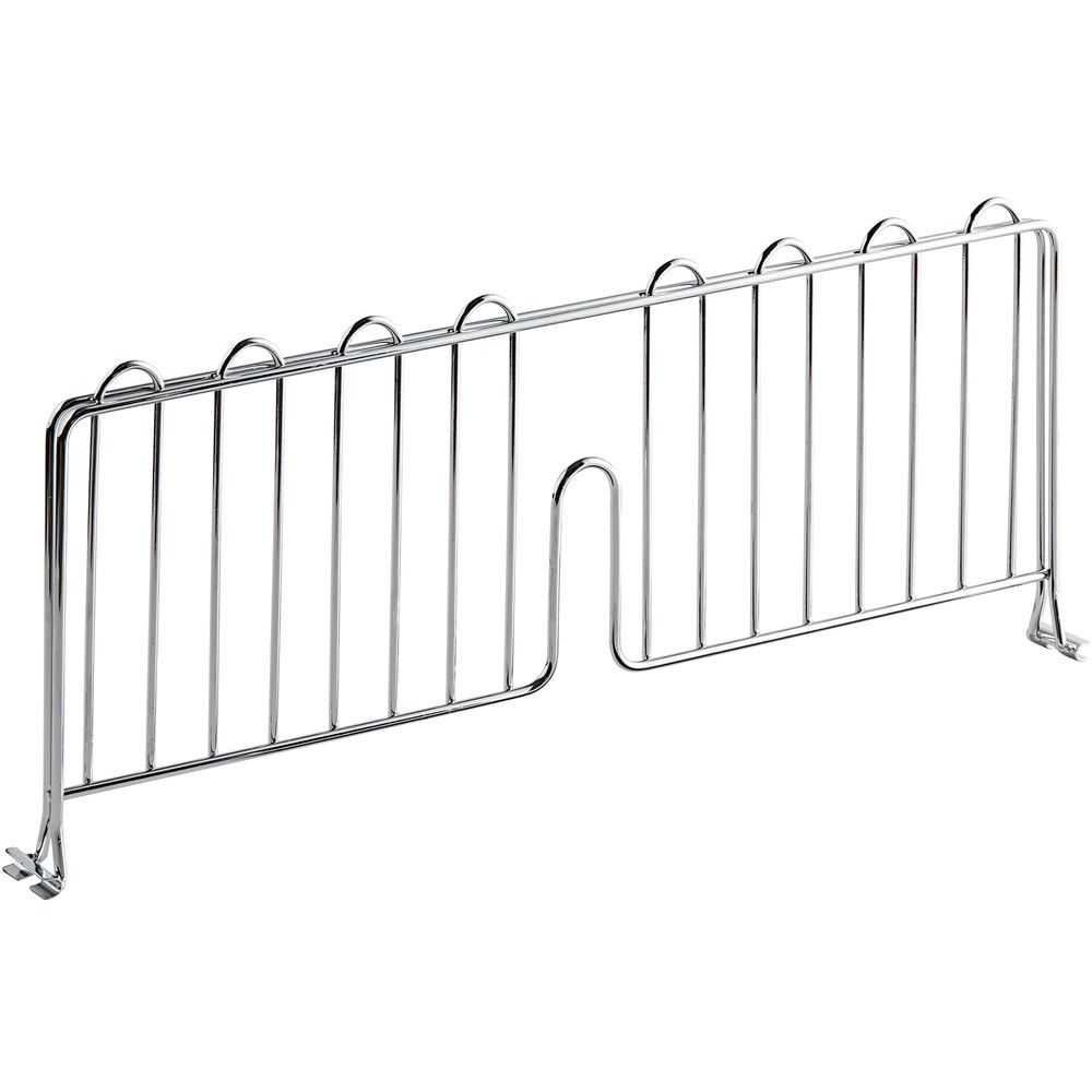 Regency 21 inch Chrome Wire Shelf Divider for Wire Shelving - 21 inch x 8 inch