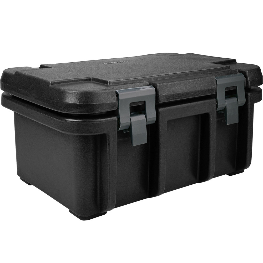 "Cambro UPC180110 Black Camcarrier Ultra Pan Carrier - Top Load for 12"" x 20"" Food Pan"