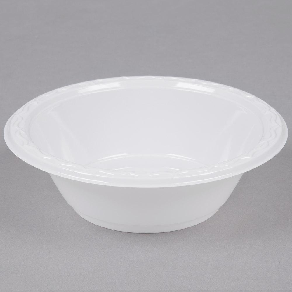 Genpak 72100 Aristocrat 12 oz. White Premium Plastic Bowl ...