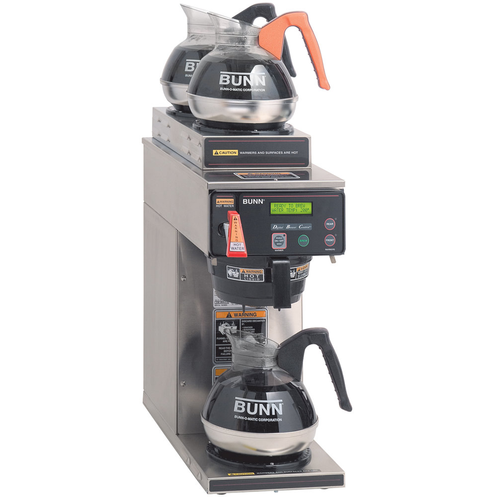 Bunn 38700.0008 Axiom DV-3 Automatic Coffee Brewer with 1 Lower and 2 Upper Warmers - Dual Voltage