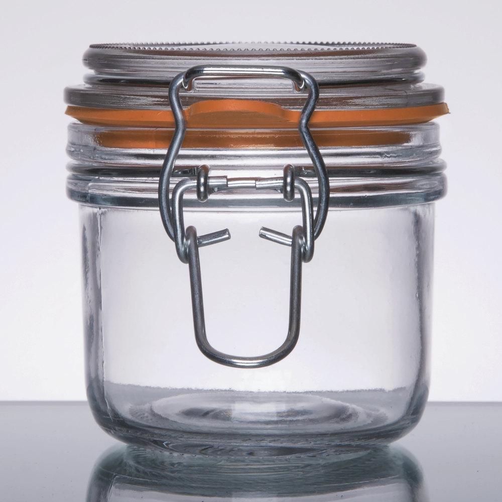 anchor hocking 98906 7 oz mini heremes jar 12 case. Black Bedroom Furniture Sets. Home Design Ideas