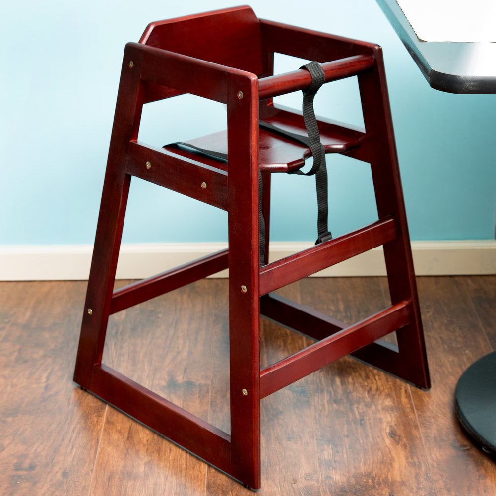 Lancaster Table Seating Stacking Restaurant Wood High Chair with