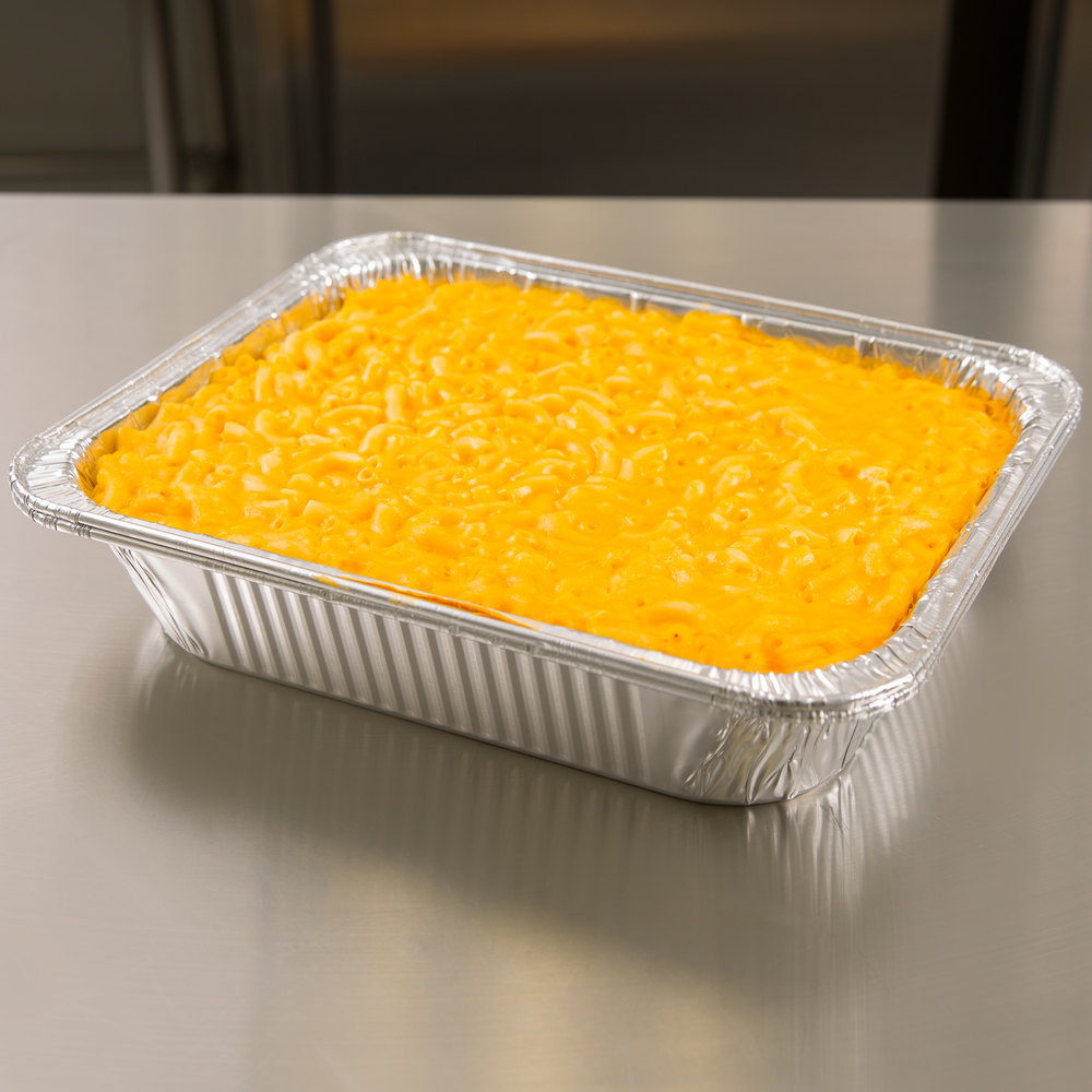 "Half-Size Heavy Duty Foil Steam Table Pan 2 9/16"" Deep - 100/Case"