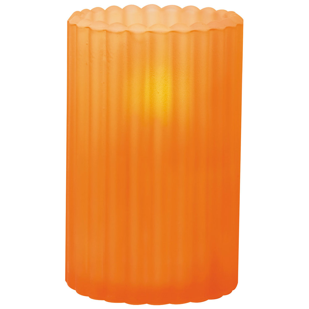 "Sterno Products 80216 3 1/8"" x 5"" Orange Frost Paragon Candle Liquid Candle Holder"