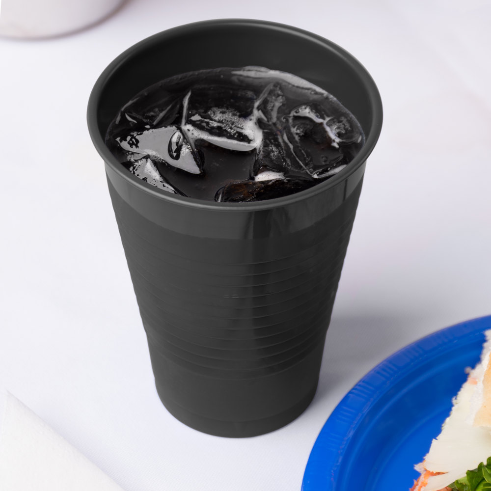 Creative Converting 28134071 12 oz. Black Velvet Plastic Cup - 240/Case