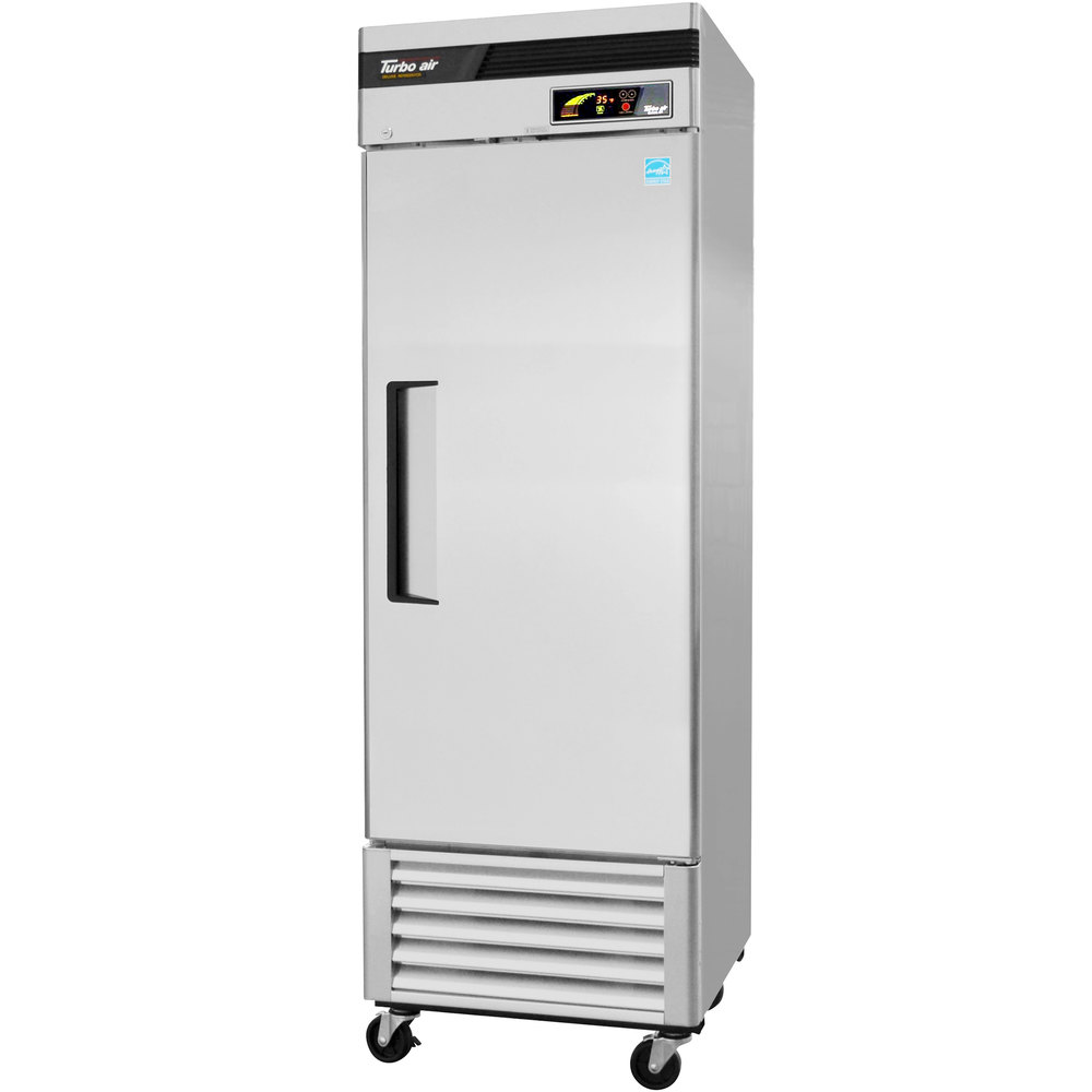 "Turbo Air TSR-23SD 27"" Super Deluxe One Section Solid Door Reach in Refrigerator - 23 Cu. Ft."
