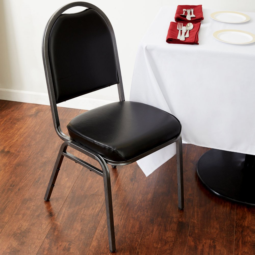"Padded Banquet Chairs table & seating black stackable banquet chair with 2"" padded seat"