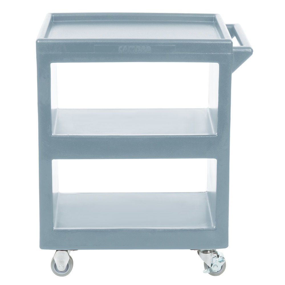 Cambro BC225401 Slate Blue Three Shelf Service Cart - 28\