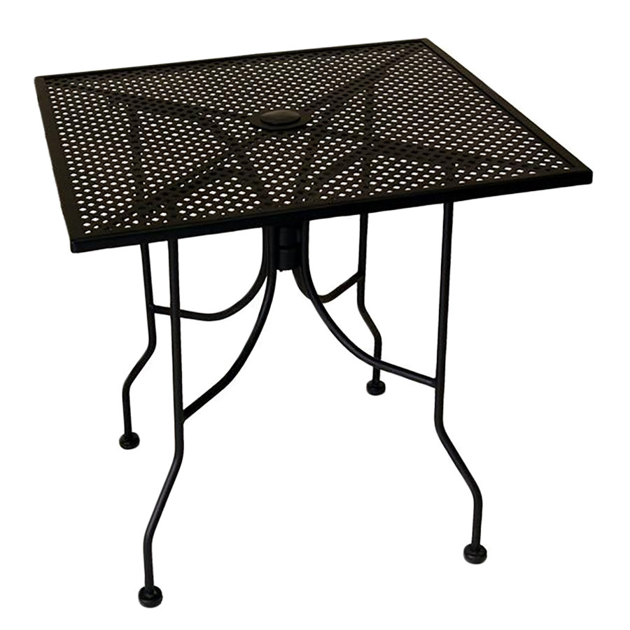 American Tables U0026 Seating ALM3030 30 Inch X 30 Inch Square Top Outdoor Table  With Umbrella