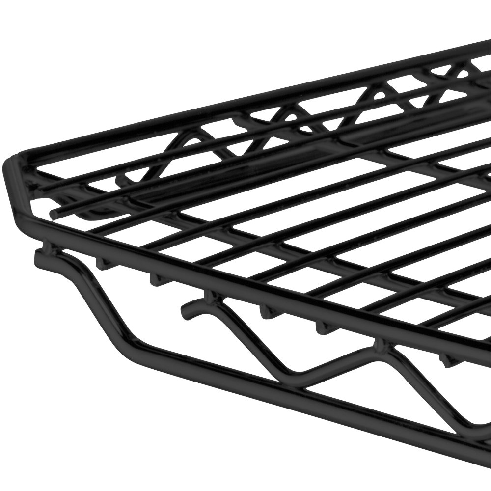 "Metro 2148QBL qwikSLOT Black Wire Shelf - 21"" x 48"""