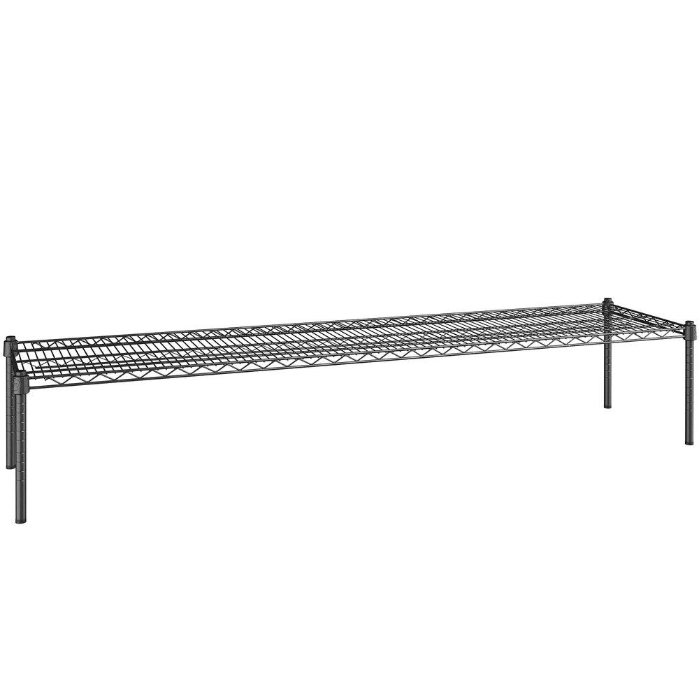 Regency 18 inch x 72 inch NSF Black Epoxy Dunnage Shelf with 14 inch Posts