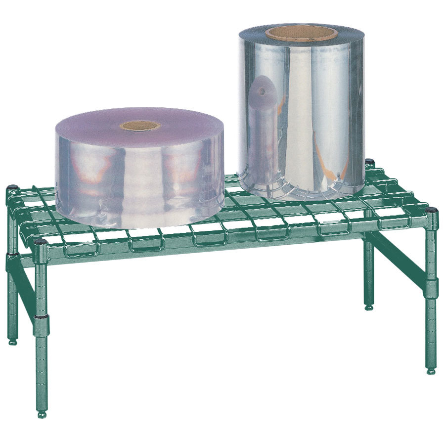 "Metro HP35K3 48"" x 18"" x 14 1/2"" Heavy Duty Metroseal 3 Dunnage Rack with Wire Mat - 1300 lb. Capacity"