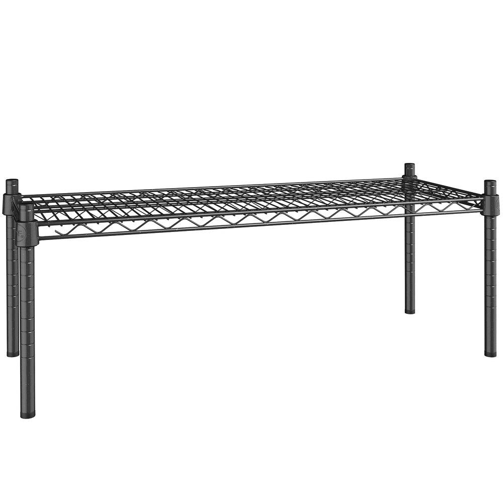 Regency 14 inch x 36 inch NSF Black Epoxy Dunnage Shelf with 14 inch Posts