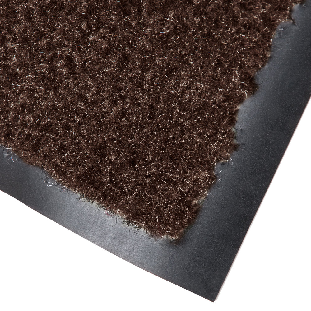 "Cactus Mat 1437R-B6 Catalina Standard-Duty 6' x 60' Brown Olefin Carpet Entrance Floor Mat Roll - 5/16"" Thick"