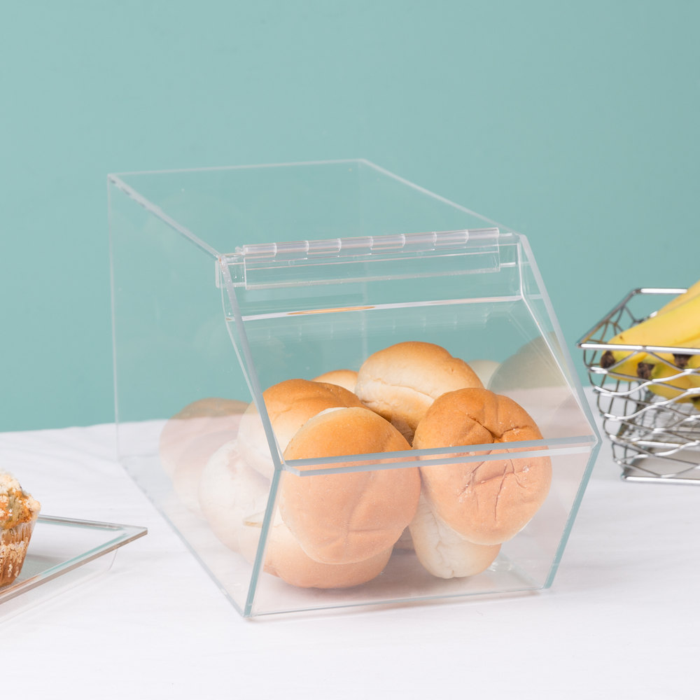 "Cal-Mil 992 Classic Stackable Acrylic Food Bin - 7 1/2"" x 19 1/2"" x 8"""