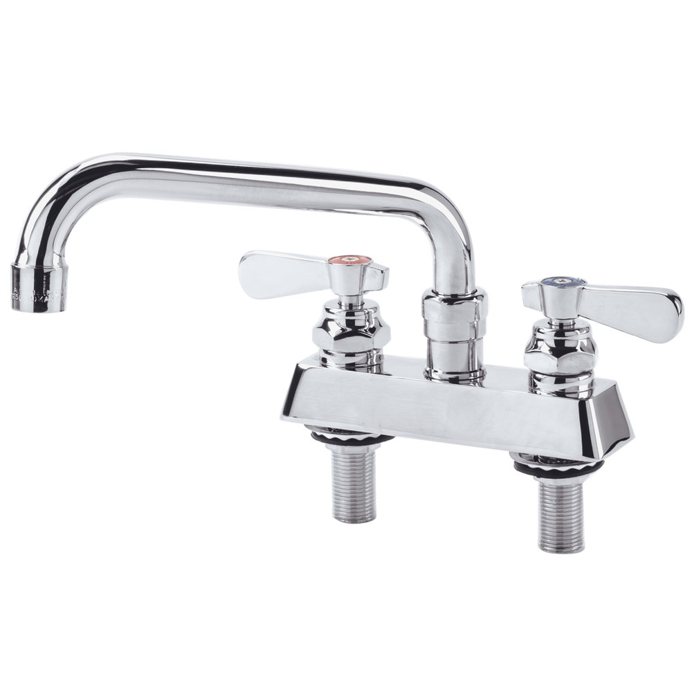 "8"" Deck Mounted Swivel Faucet with 4"" Centers"