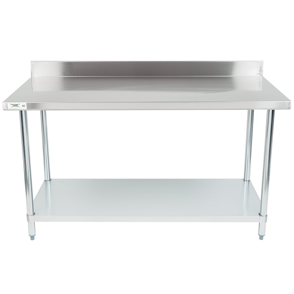 regency 30 x 60 18 gauge 304 stainless steel commercial work table with