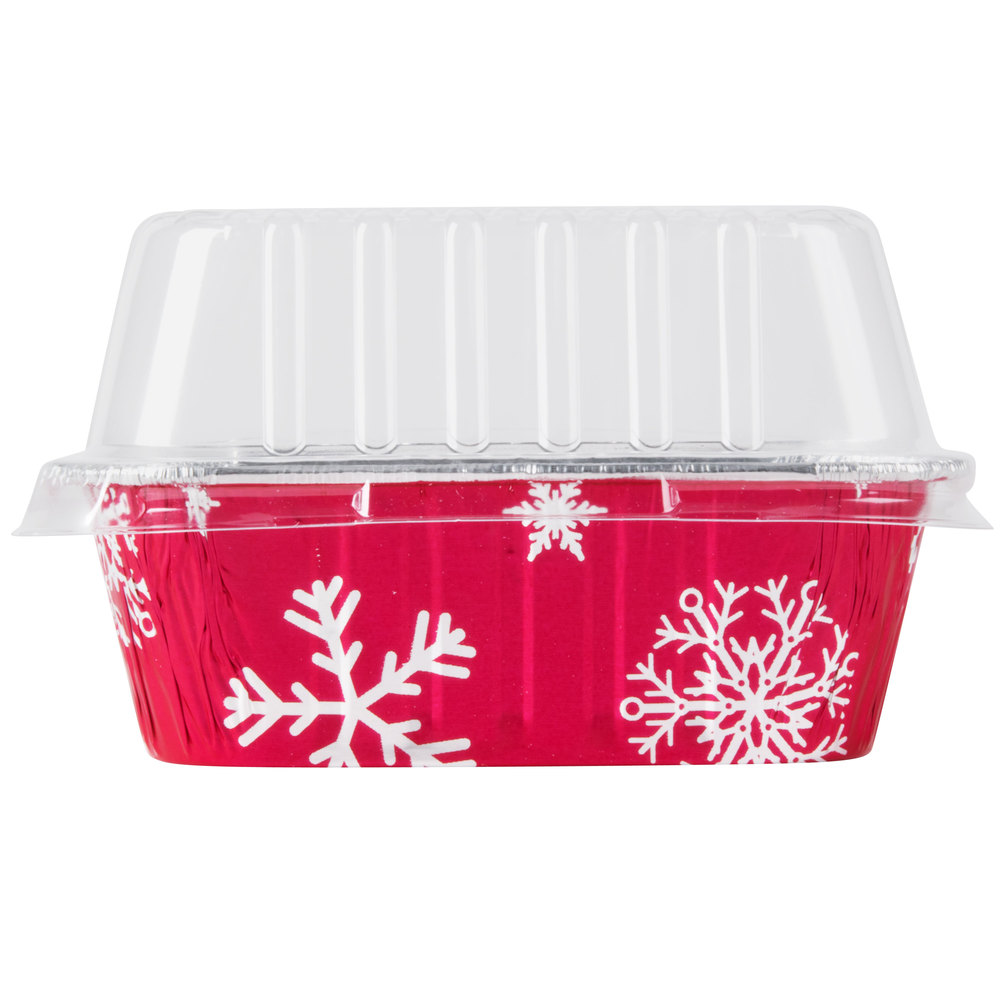 Durable Packaging 9302x 1 Lb Holiday Bread Loaf Pan With