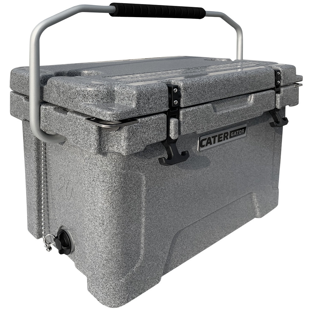 cooler ice chest rotomolded catergator extreme gray qt extra