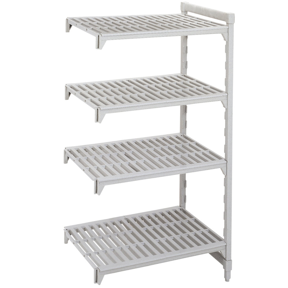 "Cambro Camshelving Premium CPA185464V4480 Vented Add On Unit 18"" x 54"" x 64"" - 4 Shelf"