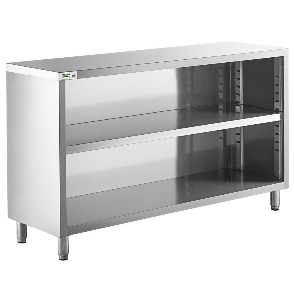 Regency 18 inch x 60 inch 18 Gauge Type 304 Stainless Steel Dish Cabinet with Adjustable Midshelf