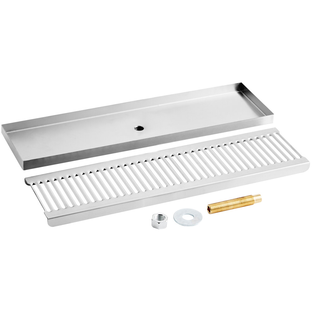 Regency 600BDR18S 18 inch Stainless Steel Surface Mount Beer Drip Tray