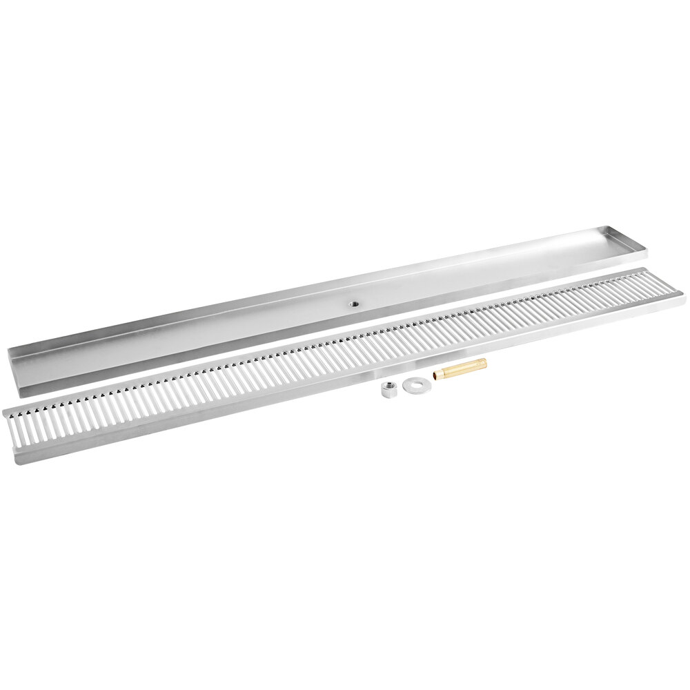 Regency 600BDR45S 45 inch Stainless Steel Surface Mount Beer Drip Tray