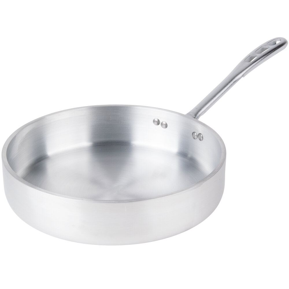 Vollrath 68743 Wear-Ever Classic Select 3 Qt. Straight Sided Heavy-Duty Aluminum Saute Pan with TriVent Chrome Plated Handle