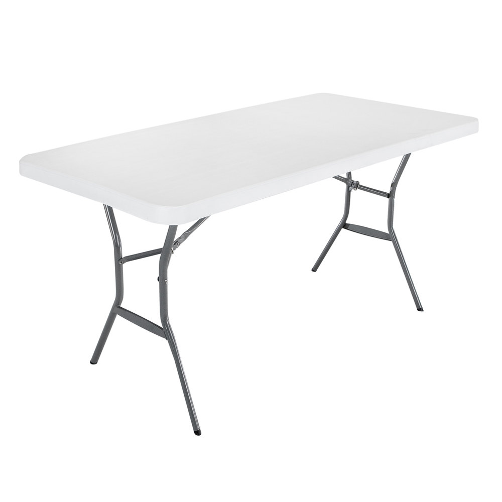 Lifetime 2924 72 X 30 White Granite Plastic Light Duty Folding Table