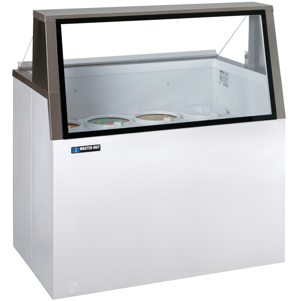 "master-bilt dd-46l 48"" low glass ice cream dipping cabinet"