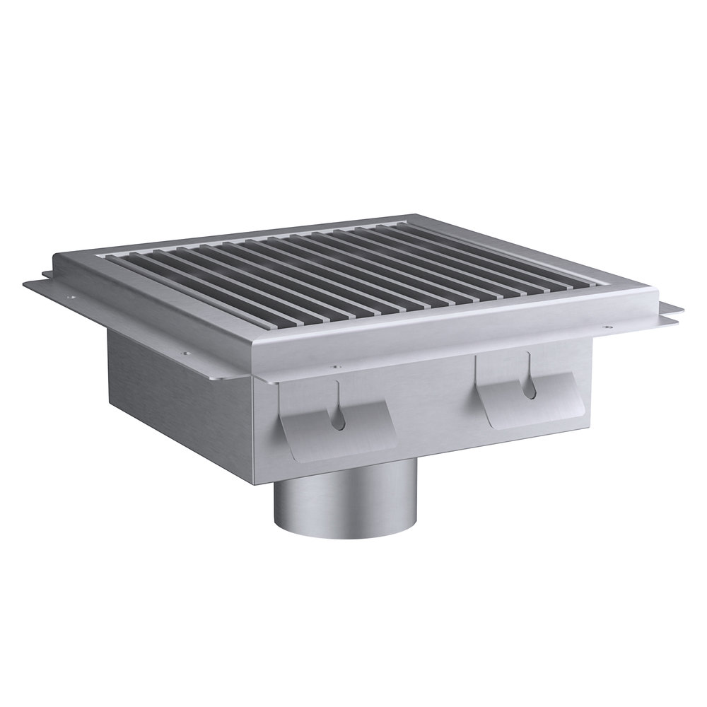 Regency 12 inch x 12 inch 14-Gauge Stainless Steel Floor Sink with Removable Grate
