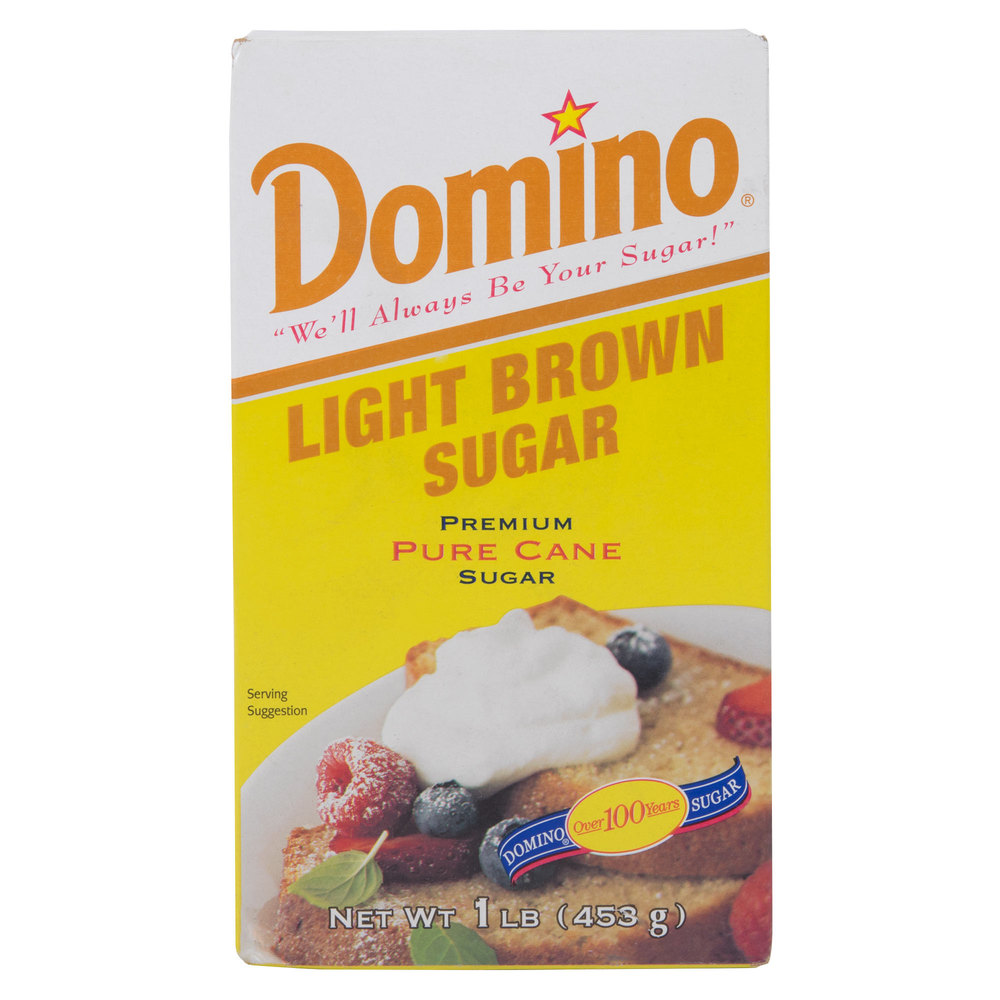 Domino Light Brown Sugar 1 lb. Box - 24/Case